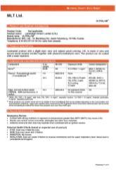 Timber LVL Material Data Safety Sheet